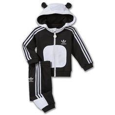 Adidas panda track suit. Papillas Para Bebes 9b27319e747bb