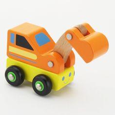 Mooi afgewerkt graafmachientje, alle hoeken en kanten zijn mooi afgerond. De graafarm is beweegbaar. Met dit autootje kan prima in de grotere garages (zoals b.v. art.D6001N) gespeeld worden.<br />Lengte in afgebeelde stand ong. 11cm.<br />Leeftijd 18mnd+<br /><b>Adviesprijs: €2,99</b>