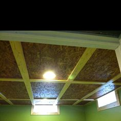 new ceiling in basement