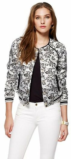 Juicy Couture Floral Jacquard Bomber Jacket | #Chic ONLY #Glamour ALWAYS