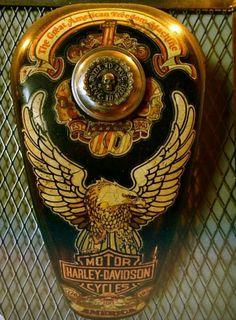 Detailed Harley-Davidson Gas Tank #harleydavidsonchoppersart