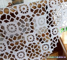 Esquema - Crochet ~ Doilies and Motifs - Crochet Bedspread Pattern, Modern Crochet Patterns, Granny Square Crochet Pattern, Crochet Flower Patterns, Crochet Stitches Patterns, Crochet Squares, Crochet Designs, Crochet Square Blanket, Granny Square Häkelanleitung