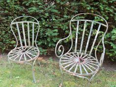 Old French garden chairs