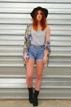 Kimono? Check. Fedora? Check. Short Shorts? Hellll Check.
