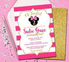 Minnie Mouse Invitation Minnie Mouse Birthday Invitation Oh