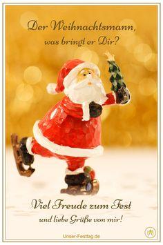 Geldgeschenk-Grusskarte °Weihnachtsmann mit Bommel° Weihnachten Weihnachtskarte