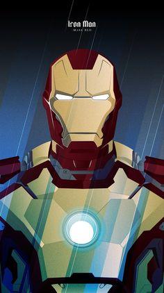 Iron Man · Mark XLII - JavierVeraLainez #illustration #ironman