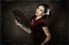 #NadineHormes wearing #BannedApparel Oriental Dress