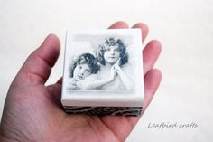 Decoupage mini box Angels wooden box Accessories by Leafbirdcrafts Decorative Accessories, Decorative Boxes, Tooth Box, Decoupage Box, First Tooth, Wooden Boxes, Jewelry Box, Angels, Christmas Gifts