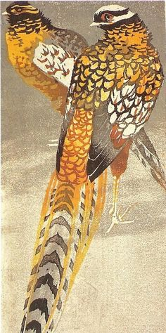 """Bazanty""/Pheasants: Adam Bunsch, ca. 1960.  I know... Also not chickens..."