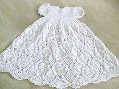 Crochet Baby Dress Infant Christening Gown by Crochet50 on Etsy
