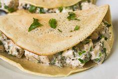 Tofu- Rucola Pancakes | Vegan Guerilla