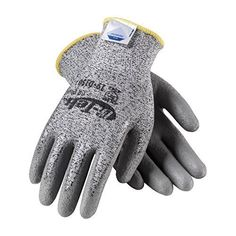G-Tek CR Plus 19-D150/XL Seamless Knit Dyneema/Nylon/Lycra Glove with Polyurethane Coated Smooth Grip on Palm and Fingers by Protective Industrial Products