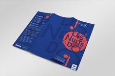 Graphiste Montpellier l Mélissa MassolLES NUITS D'O   Graphiste Montpellier l Mélissa Massol Leaflet Design, Booklet Design, Brochure Inspiration, Graphic Design Inspiration, Graphic Design Brochure, Branding Design, Layout Design, Print Design, Folder Design