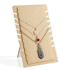 Lino collar estante de exhibición estante del sostenedor del colgante tabla de exposición stand de joyería de moda collares de la joyería marco de la suspensión