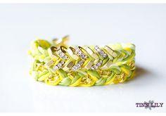 Hex Nut Double Wrap Silk Bracelet