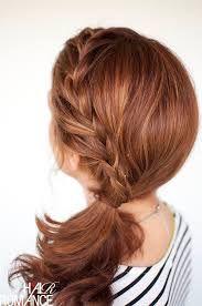 Image result for normal ponytail plait