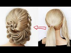 😱 Super simple & perfect for long, medium & shoulder length hair Cute Prom Hairstyles, Box Braids Hairstyles For Black Women, Heatless Hairstyles, Headband Hairstyles, Short Hairstyles, Braided Bun Styles, Teenage Hairstyles For School, Simple Bridal Hairstyle, Box Braids Pictures