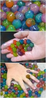 Edible water beads; a safer alternative to traditional water bead play. These are easy to make & SO FUN!