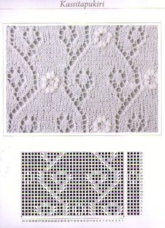 "Photo from album ""Haapsalu sall"" on Yandex. Lace Knitting Stitches, Lace Knitting Patterns, Knitting Charts, Lace Patterns, Stitch Patterns, Knitted Flowers, Knitting For Beginners, Knitting Projects, Lana"