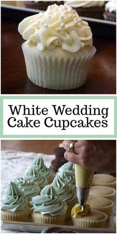White Wedding Cake Cupcakes recipe from via can find White wedding cakes and more on our website.White Wedding Cake Cupcakes recipe from via Wedding Cupcake Recipes, White Cupcake Recipes, White Cupcakes, Wedding Cakes With Cupcakes, White Wedding Cakes, Cupcake Cakes, Wedding White, Wedding Recipe, Birthday Cake Cupcakes