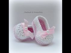 Baby balerina shoes. – Krampolinka free crochet pattern in English and Czech