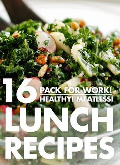 Sixteen fantastic vegetarian recipes that pack well for lunch! Photos and relevant packing tips provided for each recipe.