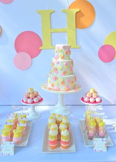 You Are My Sunshine party..very cute, no suns but pink, yellow, and orange.