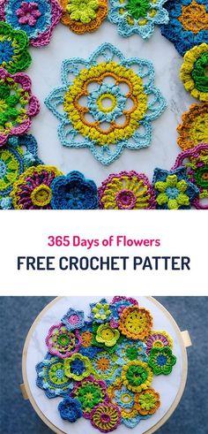 365 Days of Flowers Free Crochet Patterns