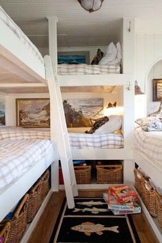 Home Decor Stores Franklin Tn among Beach Cottage Garden Ideas Bunk Beds With Stairs, Cool Bunk Beds, Kids Bunk Beds, Beach Cottage Style, Beach Cottage Decor, Lake Cottage, Cottage Ideas, Cozy Cottage, Coastal Cottage