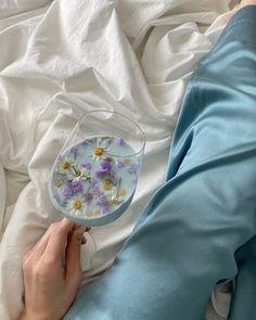 Baby Blue Aesthetic, Light Blue Aesthetic, Flower Aesthetic, Aesthetic Vintage, Aesthetic Food, Aesthetic Photo, Aesthetic Pictures, Photocollage, Flower Tea