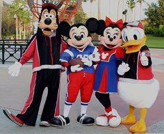 Goofy, Mickey, Minnie and Donald