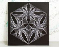 SIETE sagrados forma geometría sagrada meditación cosmos armonía cadena Arte PARED arte decoración hogar pared mandala yoga studio diseño meditación