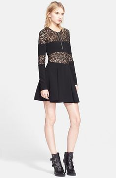 Alexander+McQueen+Lace+Inset+Zip+Front+Dress+available+at+#Nordstrom