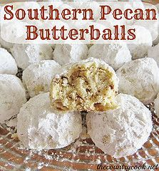 Southern Pecan Butterballs by The Country Cook, via Flickr