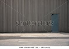 stock photo : Back door entrance to a shopping mall, modern architecture detail