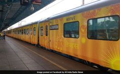The newest addition to the Indian Railways, Tejas Express is flagged off on the Mumbai-Goa route by Railway Minister Suresh Prabhu today. Aimed to run at a speed of 130 kilometres per hour (kmph), Tejas has coaches equipped with automatic doors (like. Indian Railway Train, Train Service, Chandigarh, Ahmedabad, Things To Know, 5 Things, Goa, Kerala, Mumbai