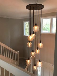 Wood Chandelier 24 Round: Design Your Own Hangout Lighting - Modern Pendant Lighting - Ideas of Modern Pendant Lighting Entryway Light Fixtures, Entryway Chandelier, Entryway Lighting, Wood Chandelier, Chandelier Ideas, Decorative Chandelier, Decorative Lights, Entryway Decor, Stairway Lighting