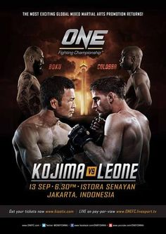 Update: One FC 10 Kojima vs. Leone Fightcard