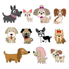 Toy Dogs Cuttable Design Cut File. Vector, Clipart, Digital Scrapbooking Download, Available in JPEG, PDF, EPS, DXF and SVG. Works with Cricut, Design Space, Cuts A Lot, Make the Cut!, Inkscape, CorelDraw, Adobe Illustrator, Silhouette Cameo, Brother ScanNCut and other software.