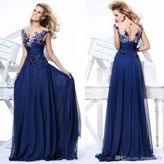 Wholesale Zuhair Murad - Buy In Stock 2014 Cheap Sexy Royal Blue Party Dresses Under $100 Long Prom Dress Evening Gowns Pageant Dress Fashion A-Line See Through Applique, $82.11   DHgate