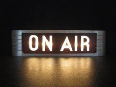 "Teen Music Studio Vintage ""On Air"" Sign Teen Music Studio Vintage 1940 ""On Air"" Zeichen Radios, Teen Music, On Air Radio, On Air Sign, Lee Jordan, Donna Pinciotti, Music Rock, Deco Studio, Studio Room"