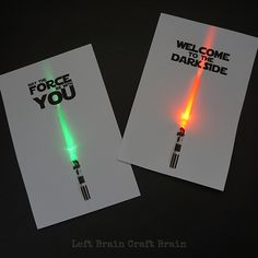 May the FORCE Be With You - DIY light up invitations