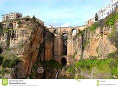 Puente Nuevo bridge, in Ronda, Spain Stock Photography
