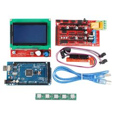 Arduino Printer Controller Kit - Mega 2560 Board, Printer Controller RAMPS Board, 5 Steppers, SD Card Slot, - Build your own printer controller kit and print all your designs via G-codes on your SD card without the need of a PC. Latest Tech Gadgets, Cheap Gadgets, Geek Gadgets, Electronics Gadgets, Cool Gadgets, 3d Printer Kit, 3d Printer Designs, 3d Printer Supplies, Printer Scanner