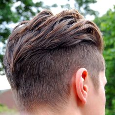 Undercut. Great texture on top. Very well done.