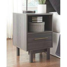 Latitude Run® Jacoury Queen Low Profile Platform Bed & Reviews | Wayfair Bedroom Furniture Stores, Furniture Deals, Warm Grey, Brown And Grey, Gray, Open Shelving, Shelves, Grey Wood, Dark Wood