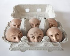 """Eat me"" by Pierre Beteille (Fray: I would have named this Egg Heads.)"