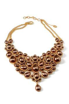 bronze pearl bib