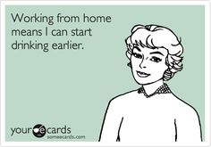 Working from home...